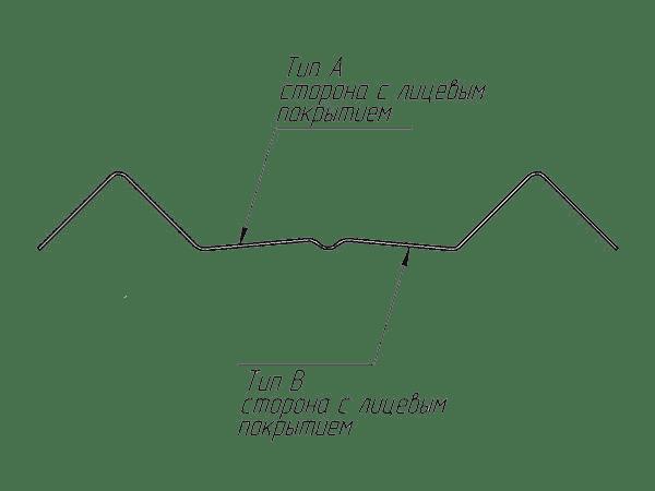 штакетник м-образный