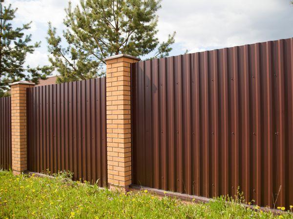 Забор из профнастила С-20