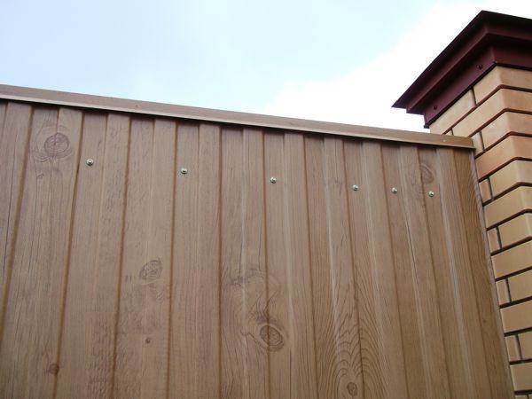 Забор из профнастила С-8